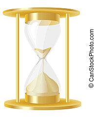 Hour glass - A vector illustration of an old-fasioned hour...