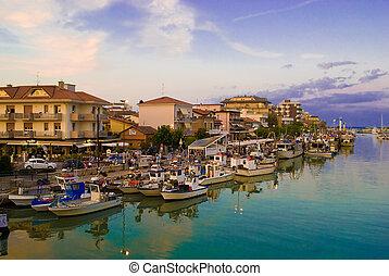 Bellaria Igea Marina, Rimini, Italy - Fishing Boats docked...