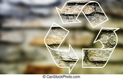 Recycle symbol .