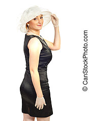 Woman in retro elegant clothes