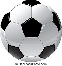 football - foot ball isolated on the white
