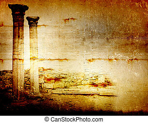 Abstract scratch ancient background in scrapbooking style...