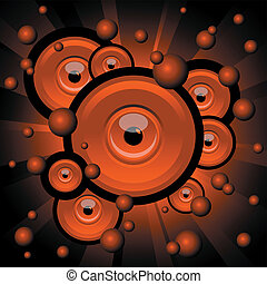 abstract illustration of red explosion