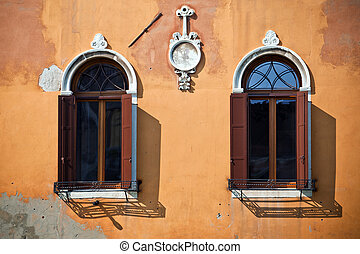 Old windows in Venice, Italy