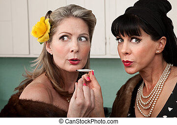 Women Smoking Up Weed - Sneaky rich housewives share a...