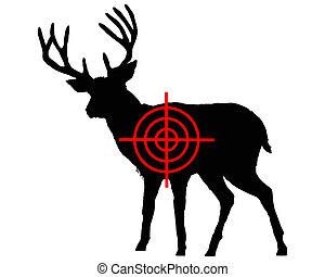 Red deer crosshair