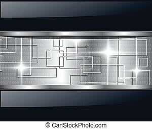 Abstract background metallic technology. Vector...