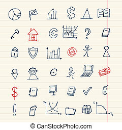Set of finance icons for your design
