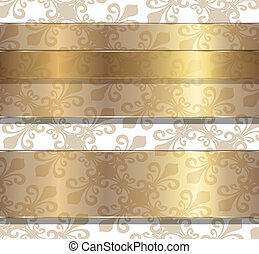 Background with floral ornaments, vector transparency