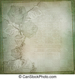 Abstract floral background with paper frame for photo or...