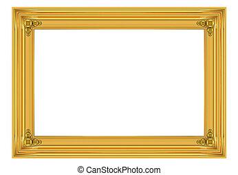3d gold frame