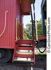 caboose steps - picture of steps leading into a caboose