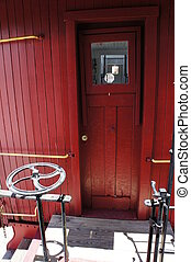Caboose Door - Picture of a door on a caboose