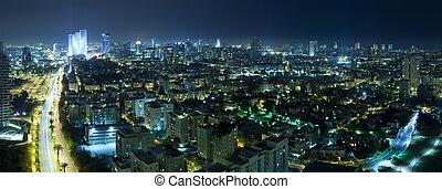 Tel Aviv Skyline at Night