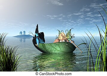 Fairy Butterfly Boat