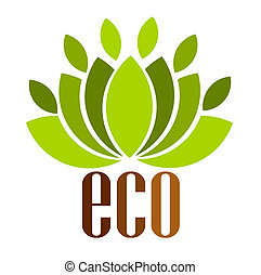 Eco logo - Ecological emblem Vector illustration
