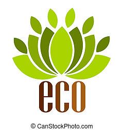 Eco logo - Ecological emblem. Vector illustration