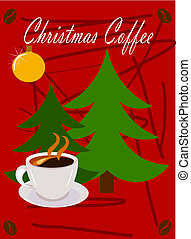 Christmas coffee - Christmas scene - coffee and Christmas...