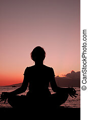 Meditation in the Sunset