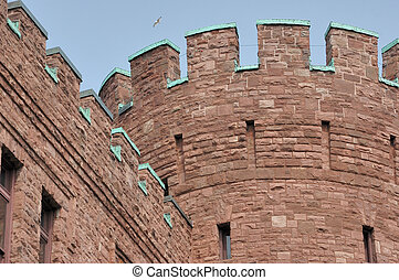 Connecticut Street Armory - A portion of the Connecticut...