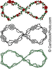 Vine infinity symbols - Infinity symbols made out of rose...