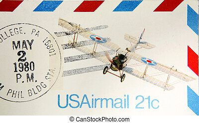Airmail - Old airmail envelope