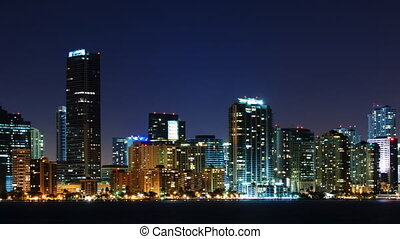 Skyline of Miami at night