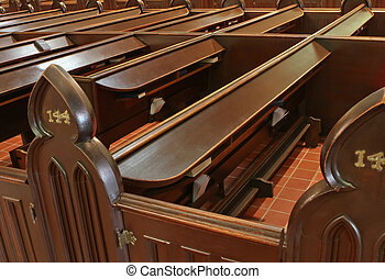 Family pew - Wooden pews at St. James Cathedral