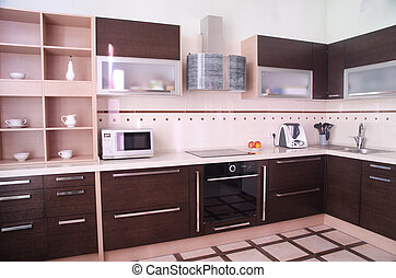 kitchen interior - photo of the modern style kitchen...