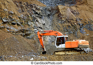 Digger - Mechanical digger in quarry