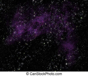 stars and nebula clouds in deep space
