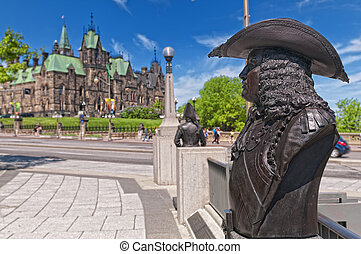 Confederation Square - Statue in Confederation Square with...