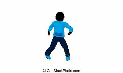 Teen Urban Male Dancing - Teen urban male dressed in casual...