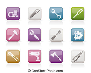 different kind of tools icons - vector icon set