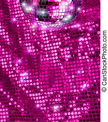 Disco mirror ball glitter
