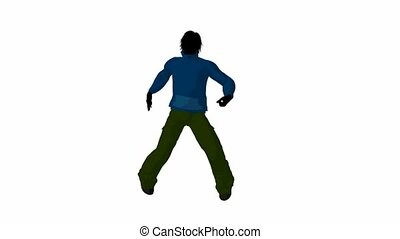 Urban Male Dancing - Urban male dressed in casual clothes...