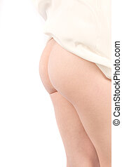 Cheeky - Bare bottom on white background