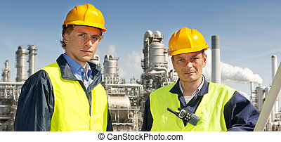 Petrochemical engineers - Two petrochemical engineers in...