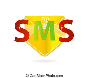 web mail gold color isolated