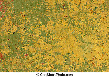 Old metal surface multilayer painted - The metal surface...