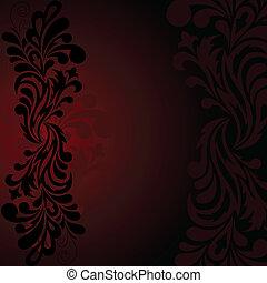 Black pattern on a dark background