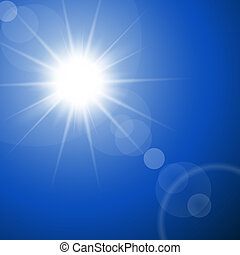The hot summer sun - abstract vector background