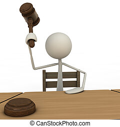 Judge with Hammer - depicting a judge with a hammer