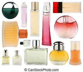 Set of perfume bottles