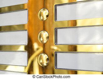door bell name plate - golden door bell name plate and the...