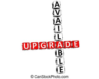 3D Upgrade Available Crossword on white background