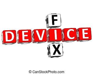 3D Fix Device Crossword