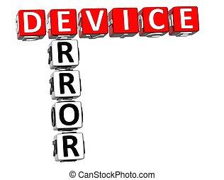 3D Device Error Crossword