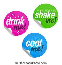 Drink me, shake me and cool me - Vector illustration of...