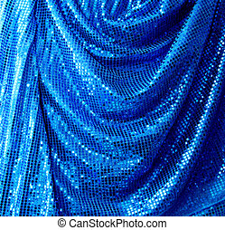 Blue disco glitte canvas